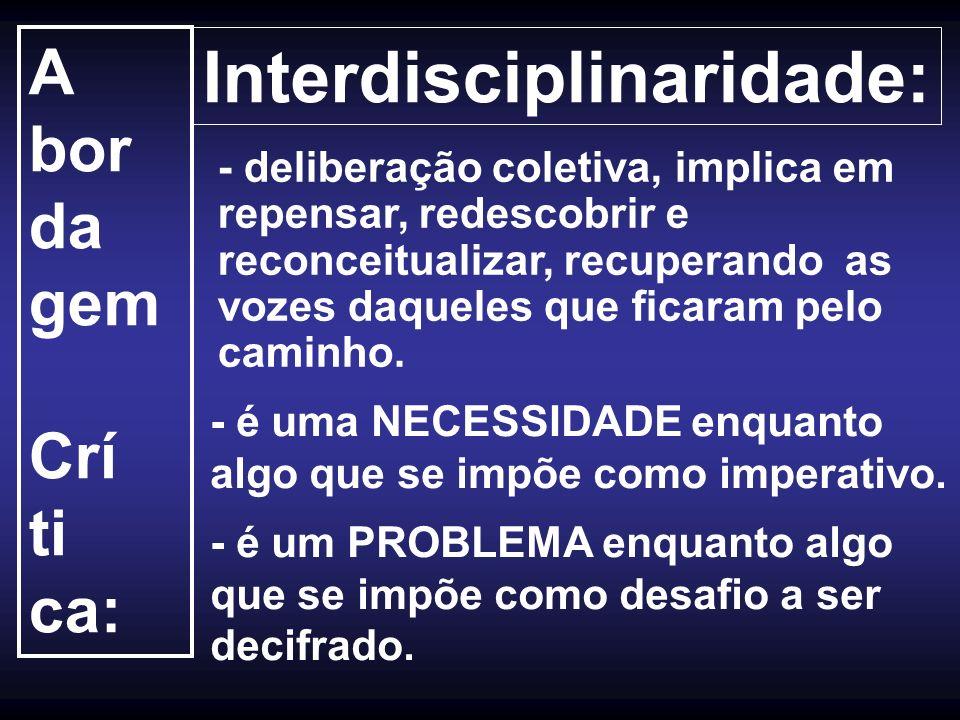 Interdisciplinaridade: