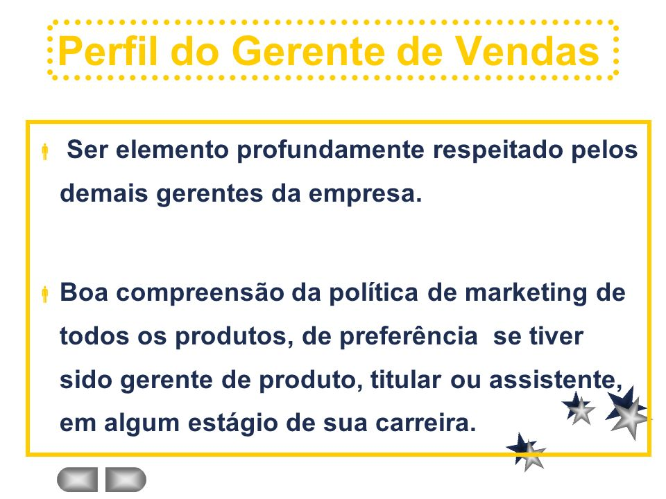Perfil do Gerente de Vendas
