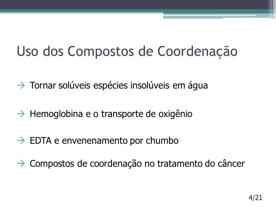 Uso dos Compostos de Coordenação