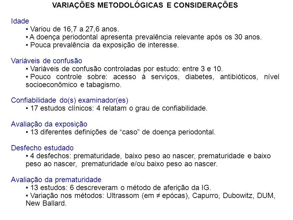 VARIAÇÕES METODOLÓGICAS E CONSIDERAÇÕES