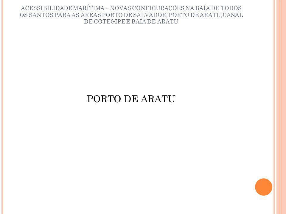 ACESSIBILIDADE MARÍTIMA – NOVAS CONFIGURAÇÕES NA BAÍA DE TODOS OS SANTOS PARA AS ÁREAS PORTO DE SALVADOR, PORTO DE ARATU,CANAL DE COTEGIPE E BAÍA DE ARATU