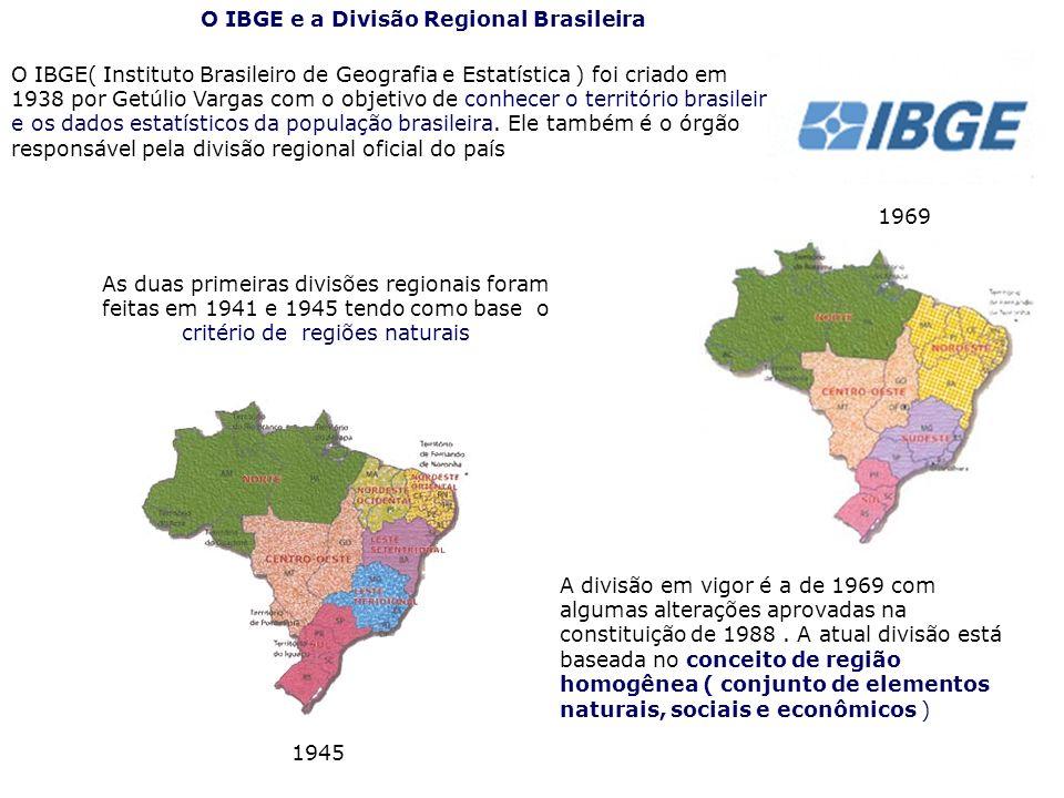 O IBGE e a Divisão Regional Brasileira