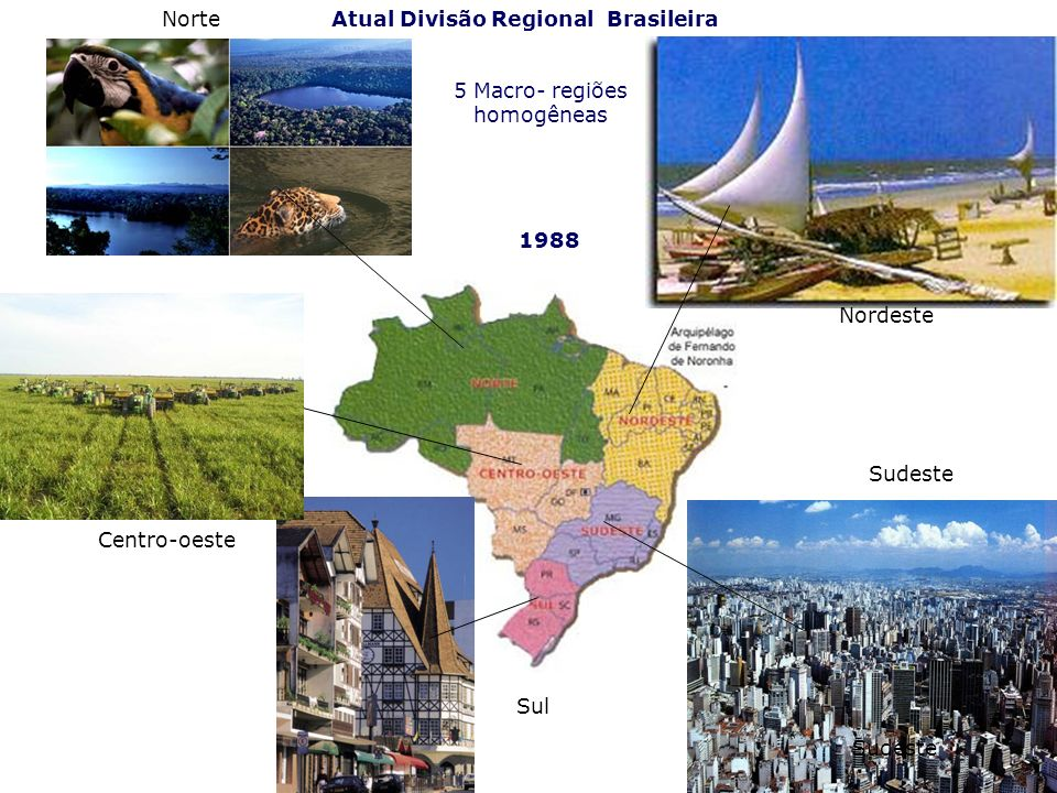 Atual Divisão Regional Brasileira