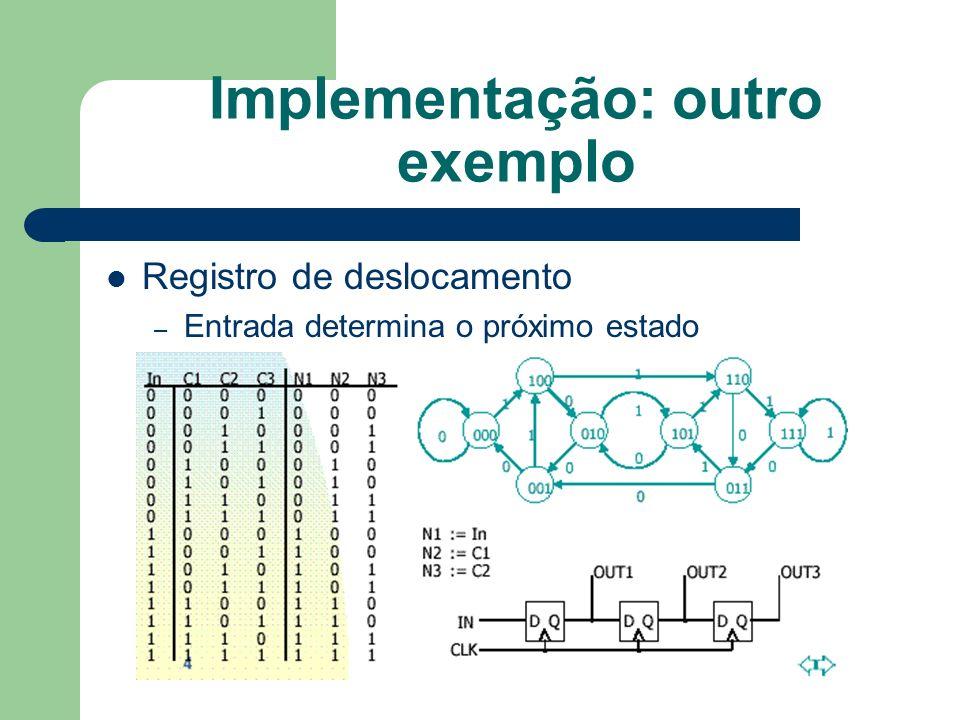 Implementação: outro exemplo