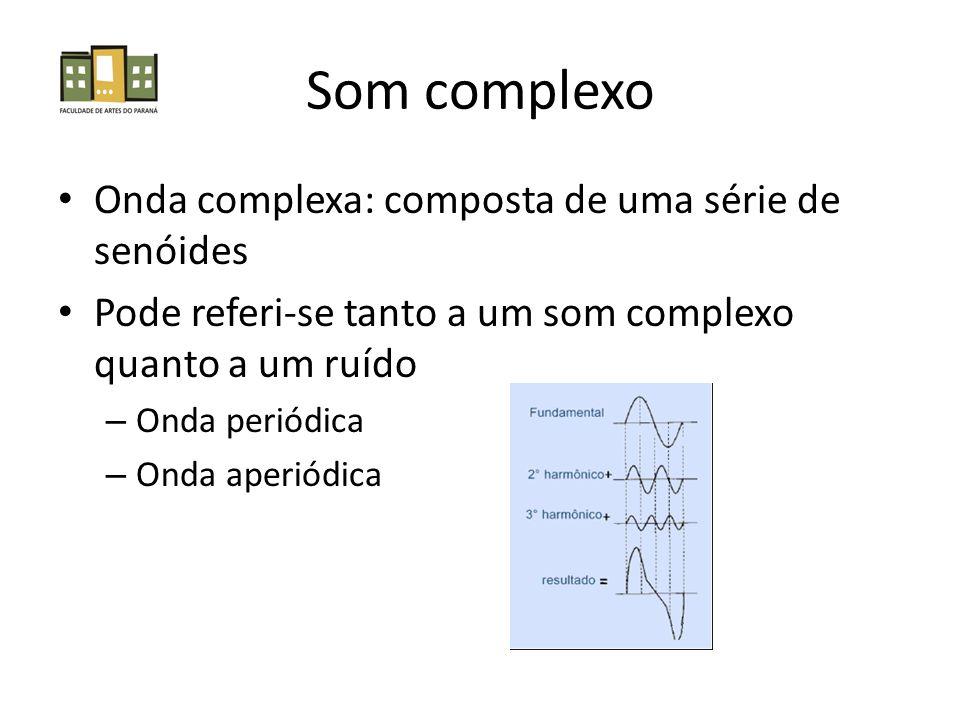 Som complexo Onda complexa: composta de uma série de senóides