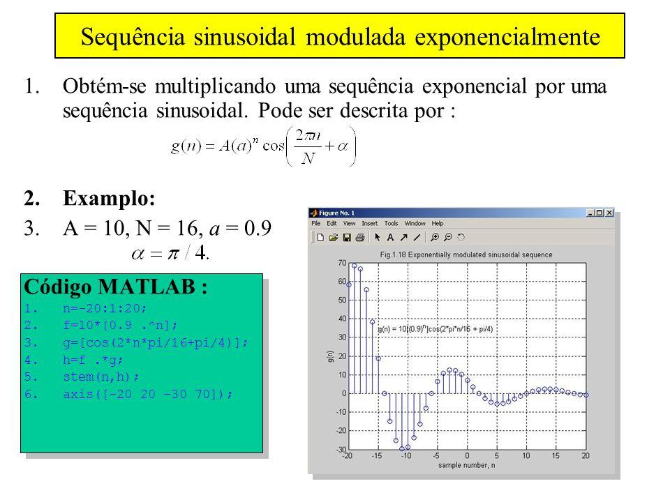 Sequência sinusoidal modulada exponencialmente
