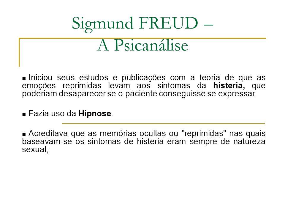 Sigmund FREUD – A Psicanálise