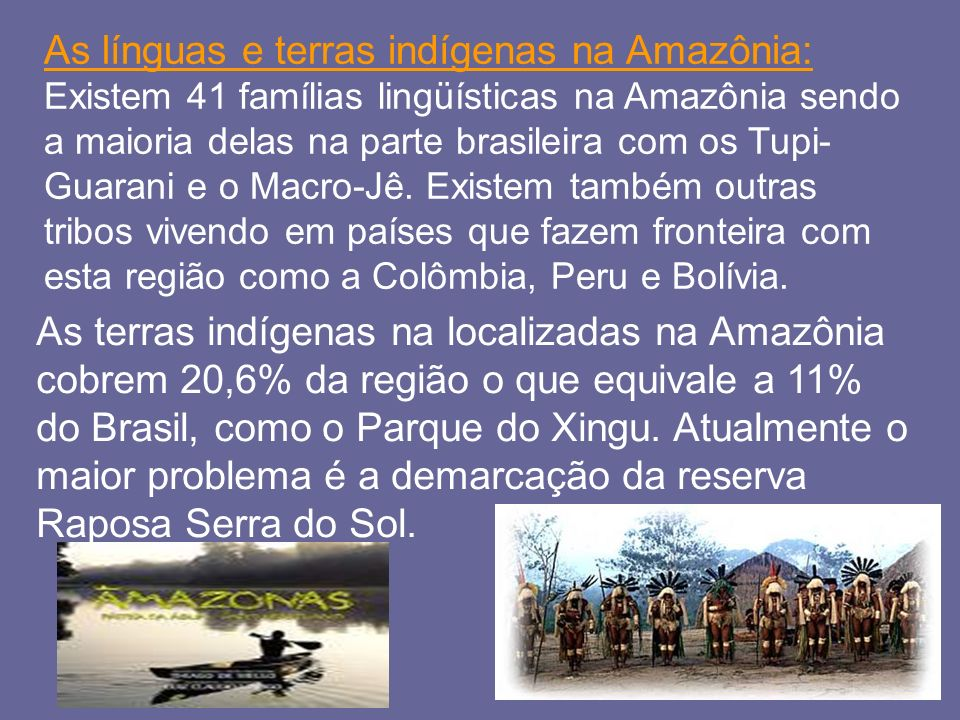 As línguas e terras indígenas na Amazônia: