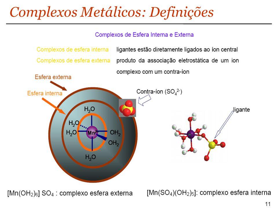Complexos Metálicos: Definições
