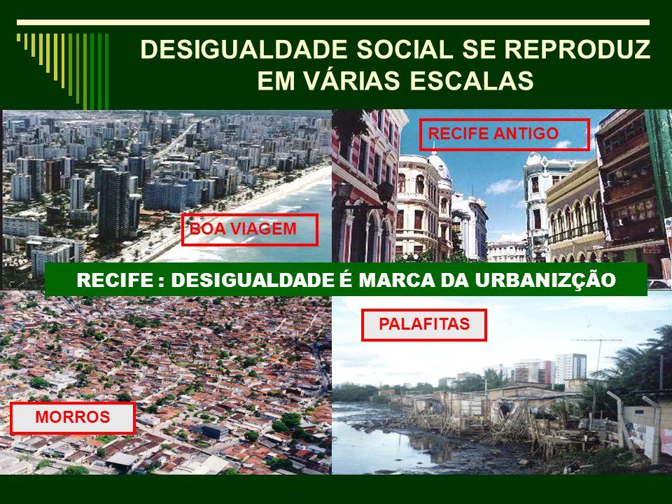 DESIGUALDADE SOCIAL SE REPRODUZ EM VÁRIAS ESCALAS