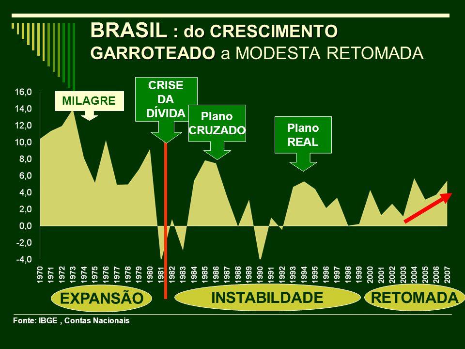 BRASIL : do CRESCIMENTO GARROTEADO a MODESTA RETOMADA
