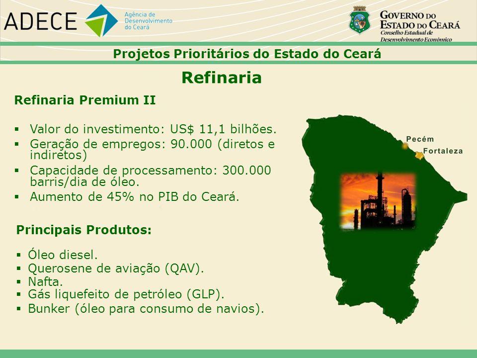 Refinaria 37373737 Projetos Prioritários do Estado do Ceará