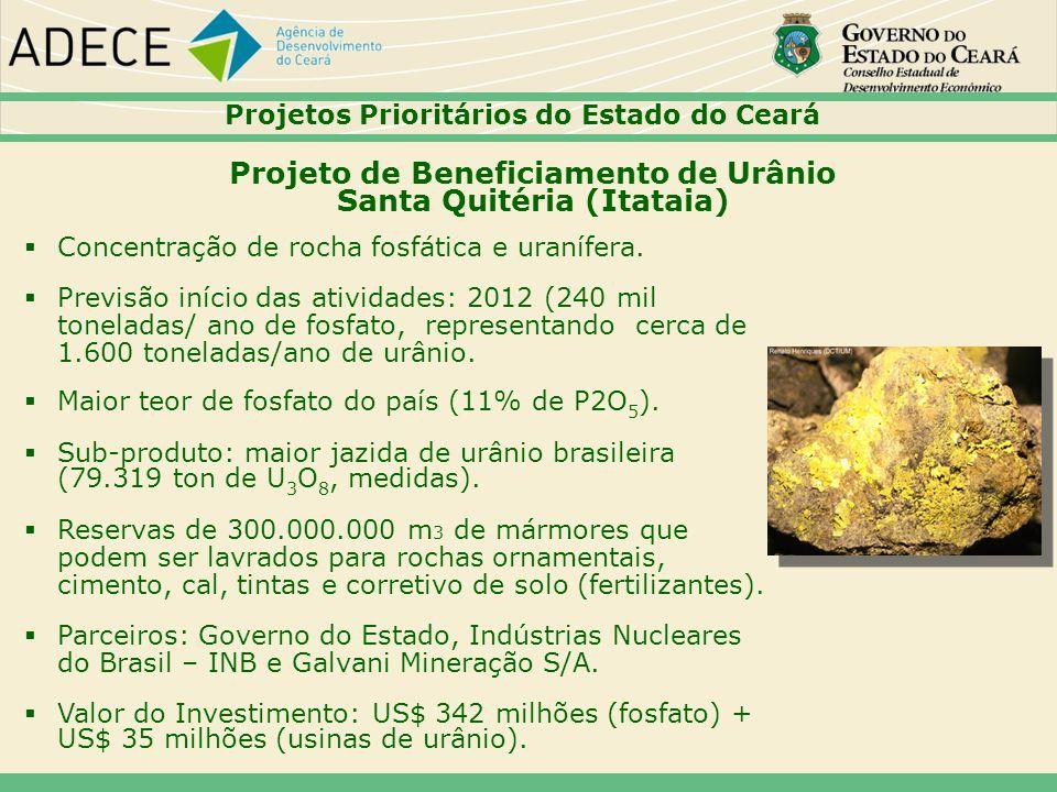 Projeto de Beneficiamento de Urânio Santa Quitéria (Itataia)