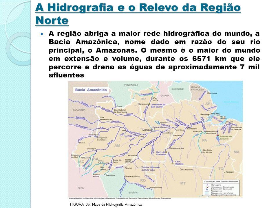 A Hidrografia e o Relevo da Região Norte