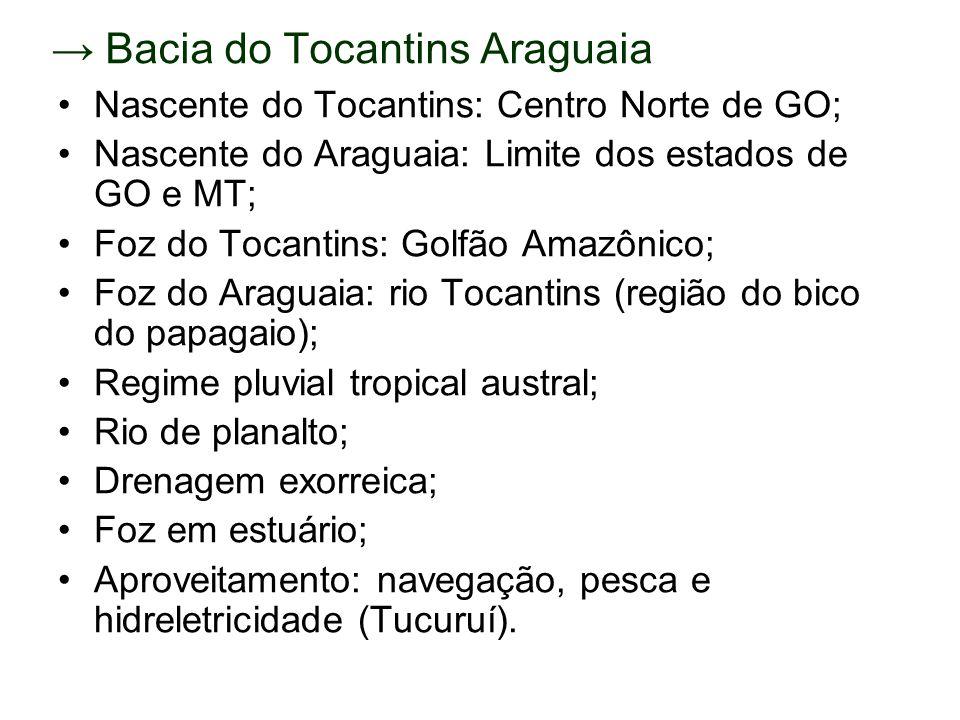 → Bacia do Tocantins Araguaia