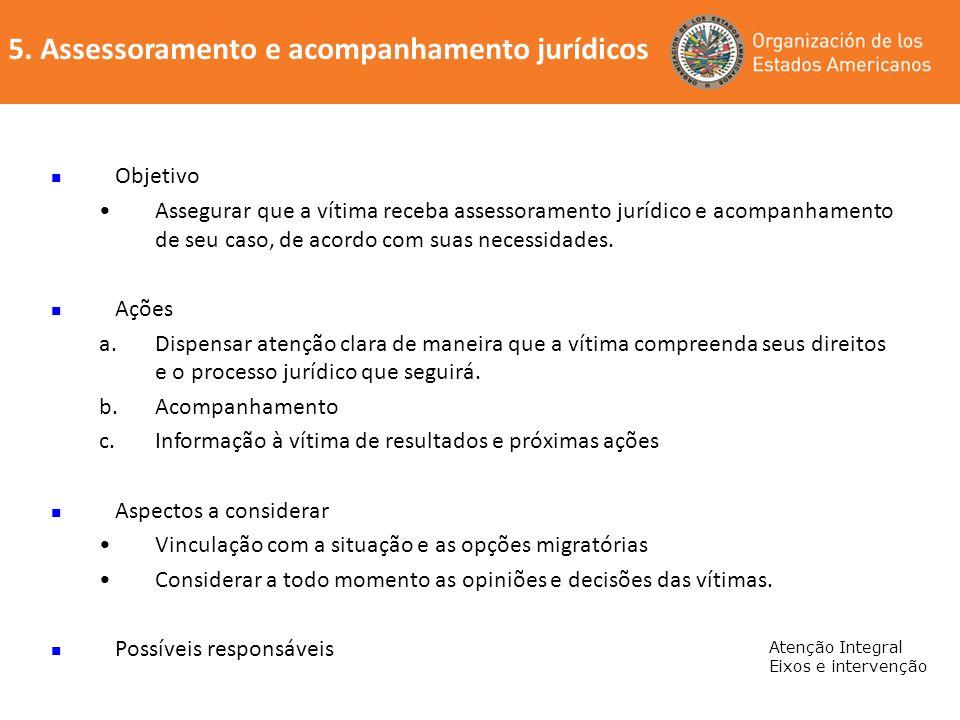 5. Assessoramento e acompanhamento jurídicos