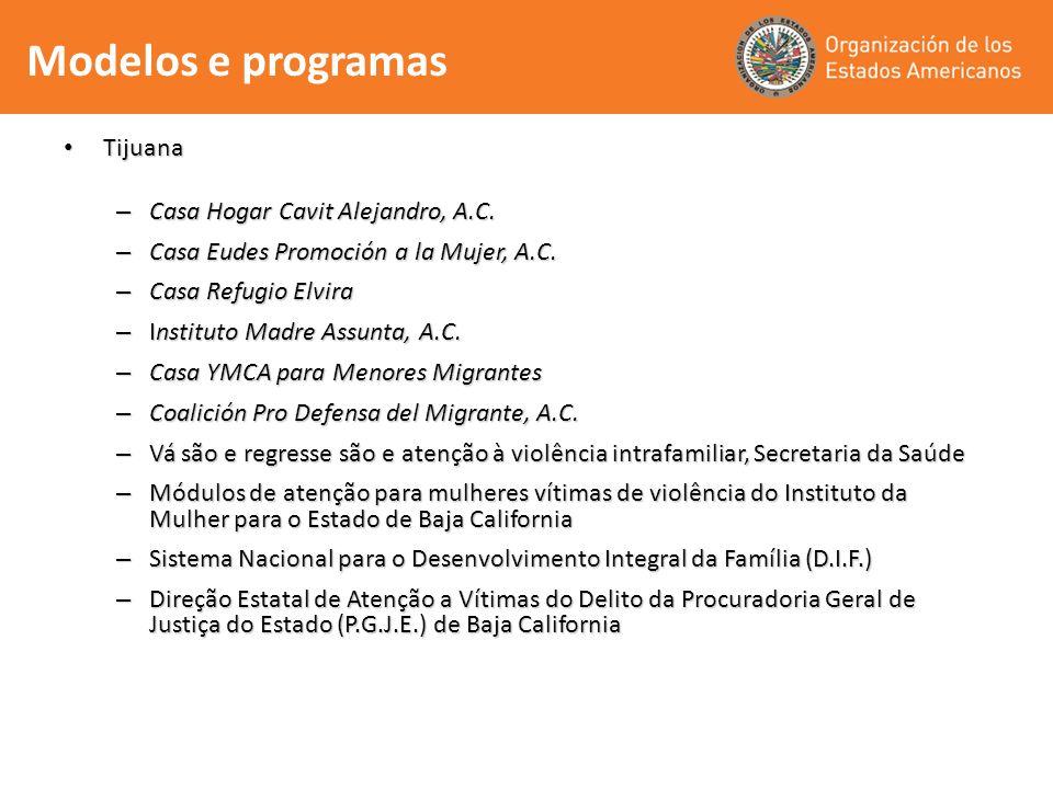 Modelos e programas Tijuana Casa Hogar Cavit Alejandro, A.C.