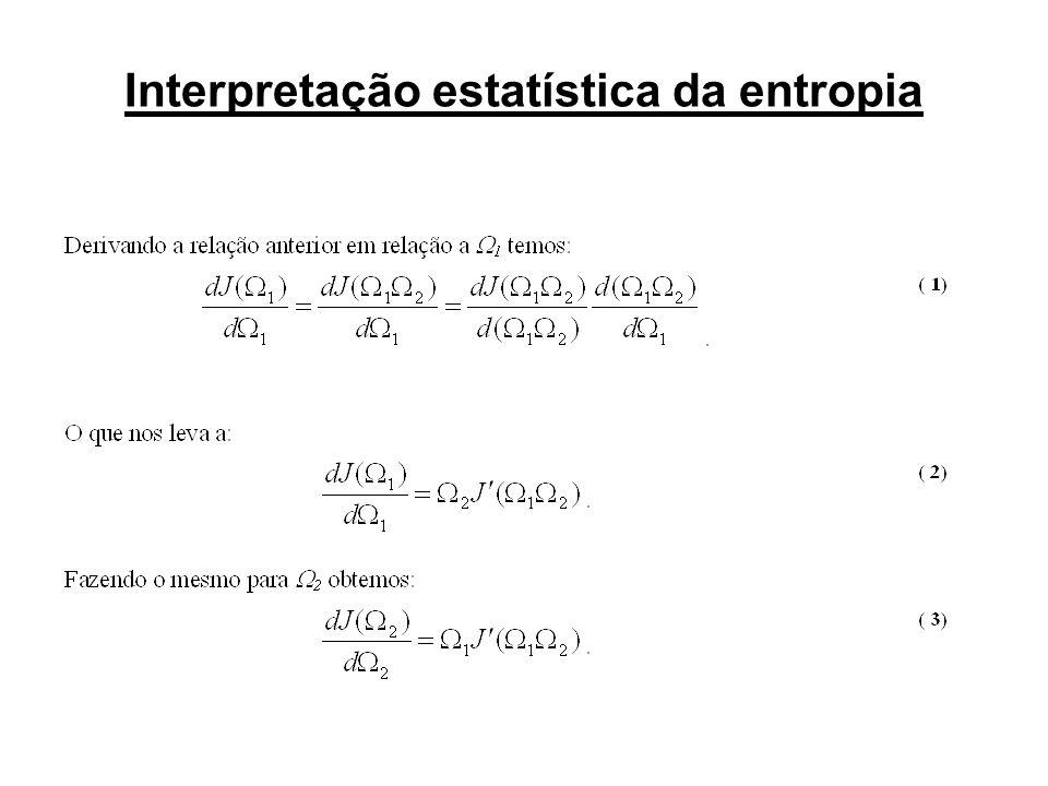 Interpretação estatística da entropia