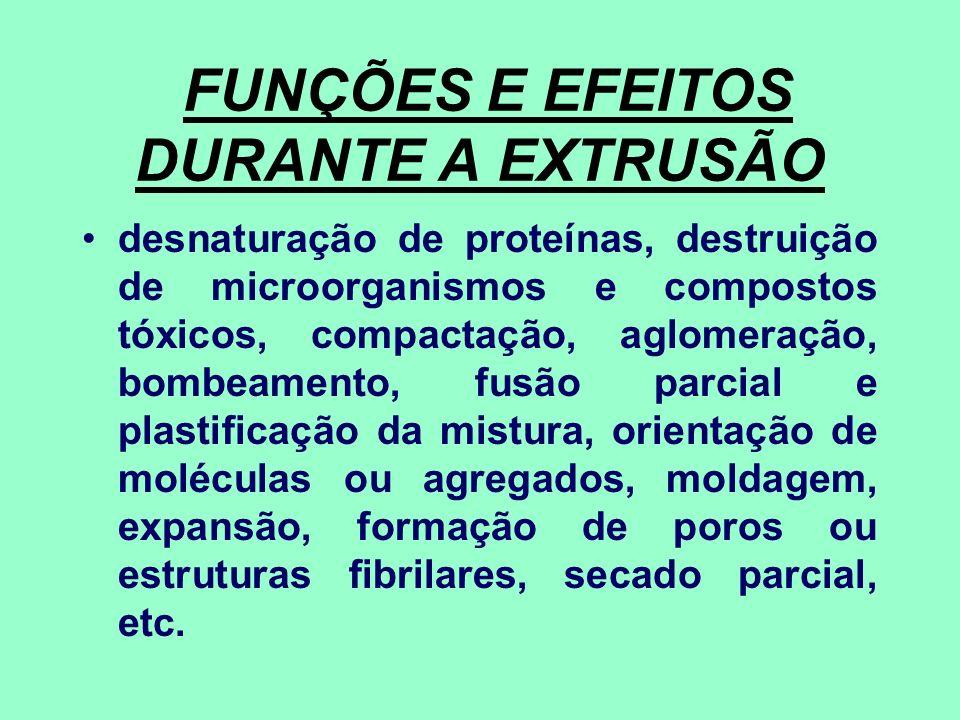 FUNÇÕES E EFEITOS DURANTE A EXTRUSÃO