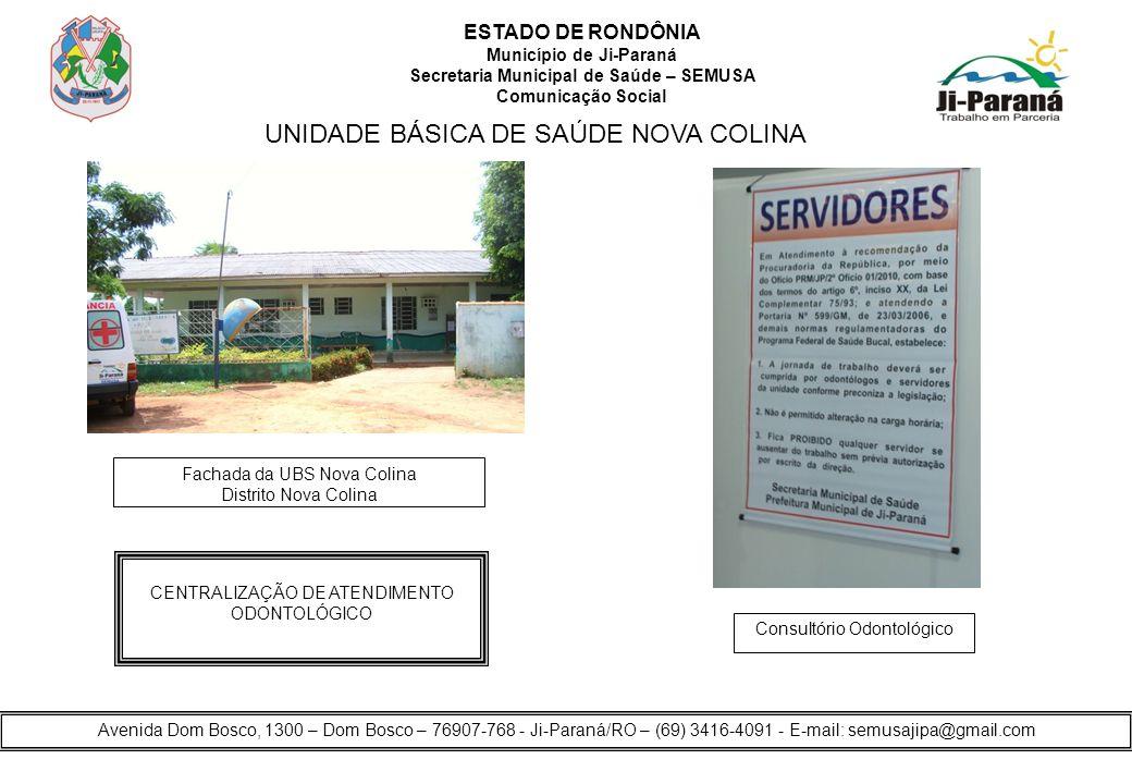 UNIDADE BÁSICA DE SAÚDE NOVA COLINA