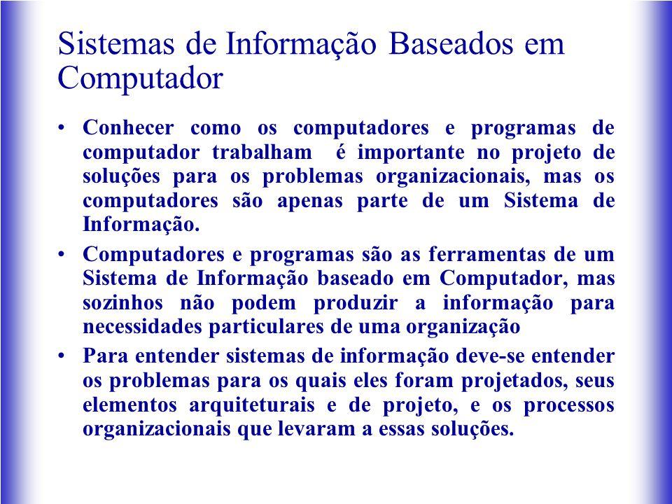 Sistemas de Informação Baseados em Computador