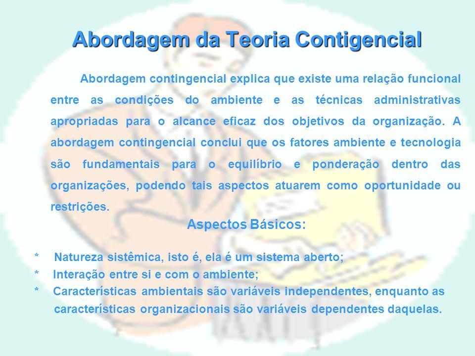 Abordagem da Teoria Contigencial