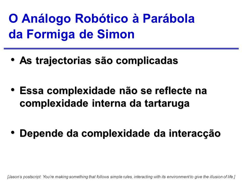 O Análogo Robótico à Parábola da Formiga de Simon