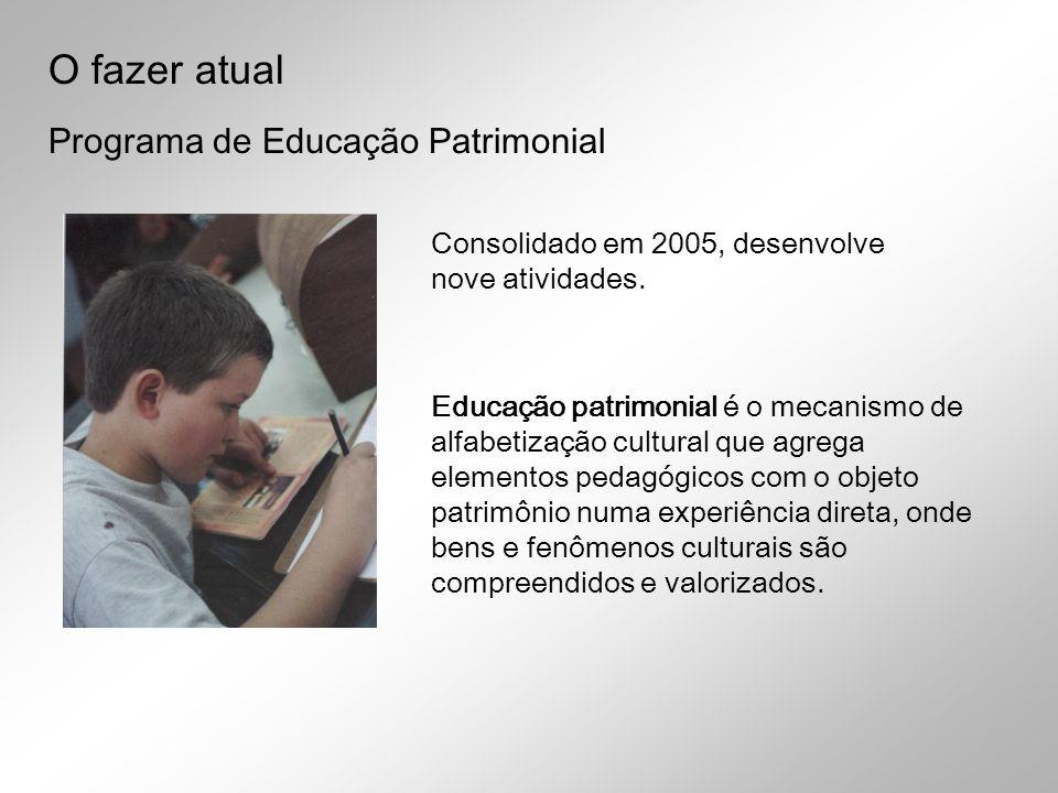 O fazer atual Programa de Educação Patrimonial