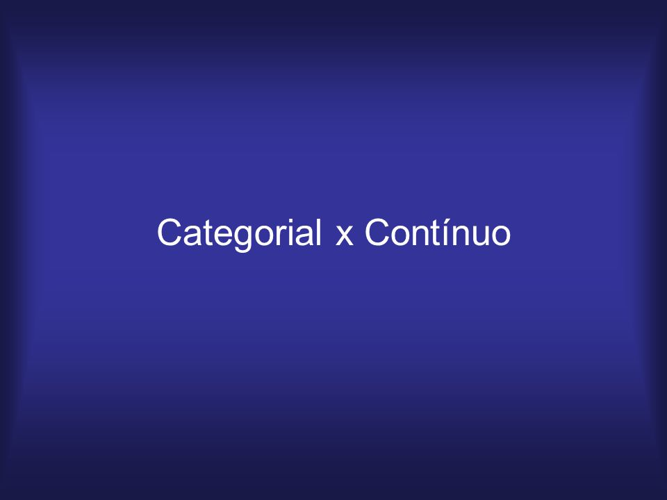 Categorial x Contínuo