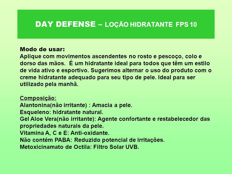 DAY DEFENSE – LOÇÃO HIDRATANTE FPS 10