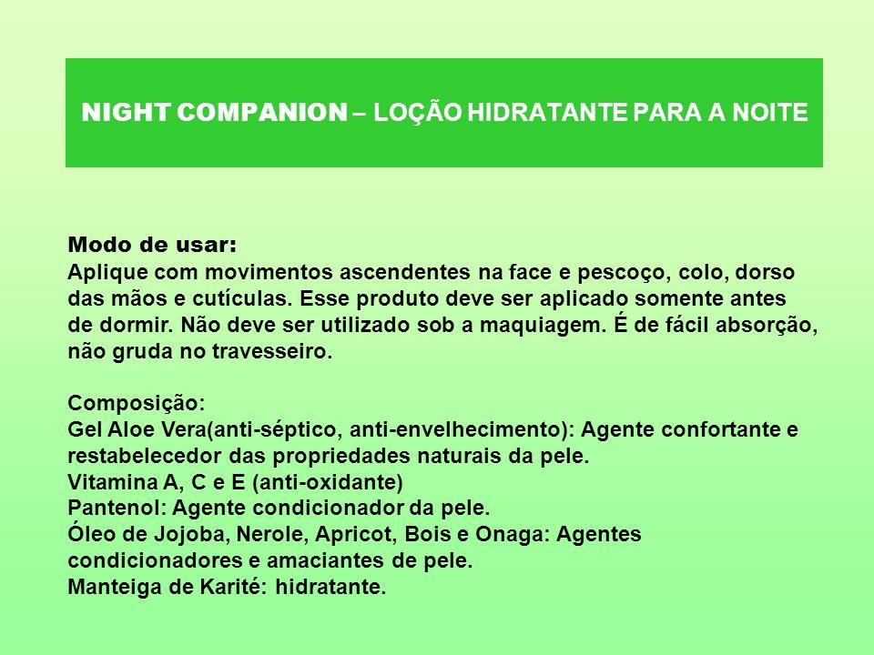NIGHT COMPANION – LOÇÃO HIDRATANTE PARA A NOITE
