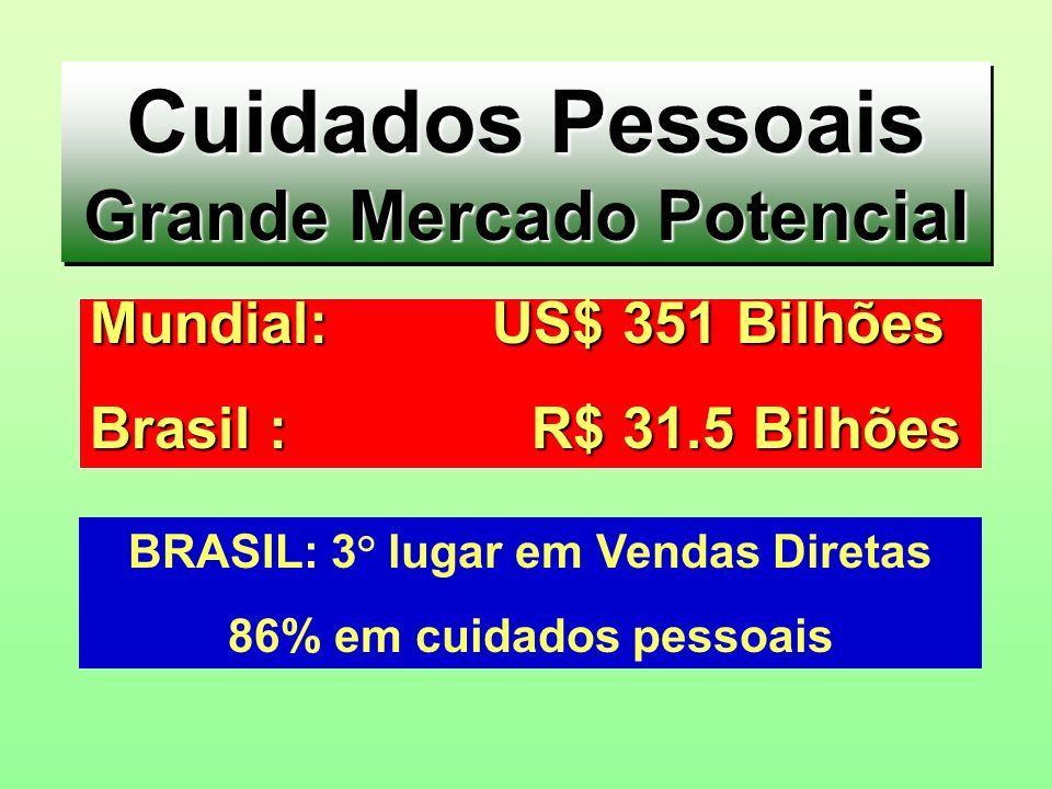 Grande Mercado Potencial BRASIL: 3° lugar em Vendas Diretas