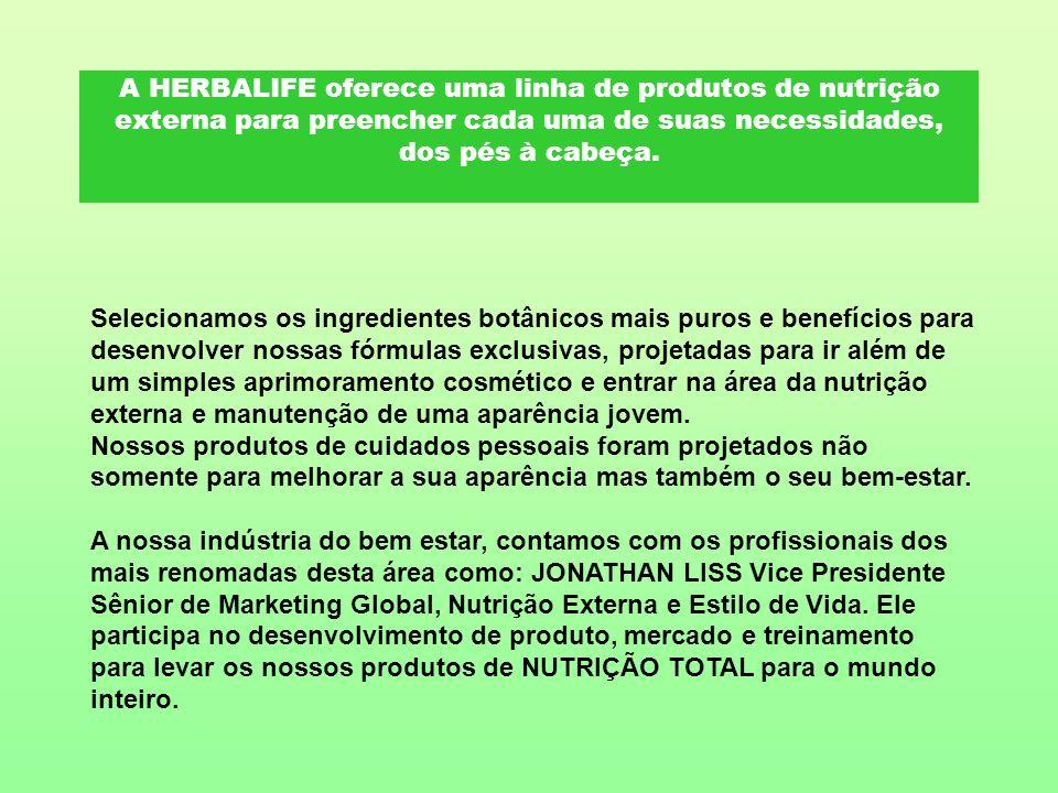 A HERBALIFE oferece uma linha de produtos de nutrição externa para preencher cada uma de suas necessidades, dos pés à cabeça.