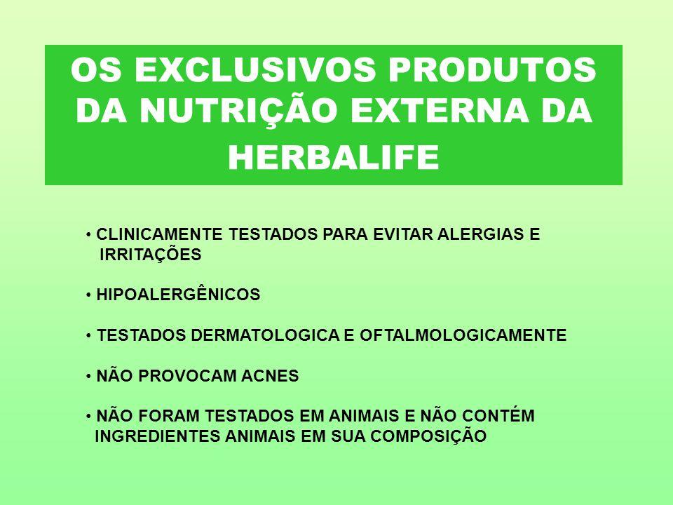 OS EXCLUSIVOS PRODUTOS DA NUTRIÇÃO EXTERNA DA HERBALIFE