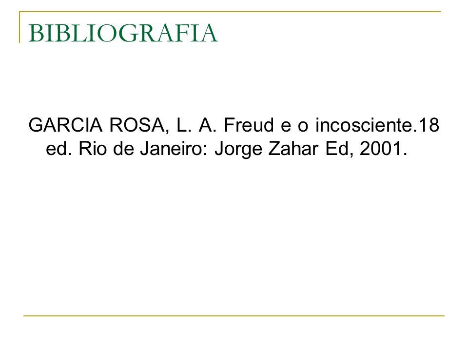 BIBLIOGRAFIA GARCIA ROSA, L. A. Freud e o incosciente.18 ed.