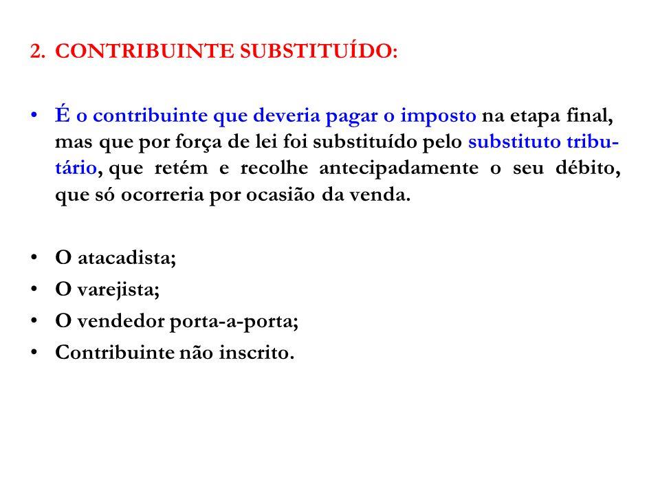 2. CONTRIBUINTE SUBSTITUÍDO: