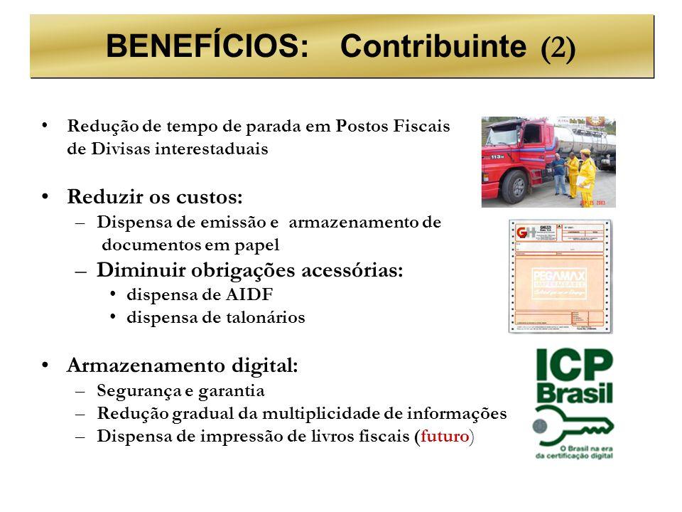 BENEFÍCIOS: Contribuinte (2)