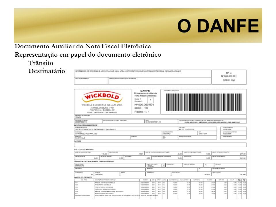 O DANFE Documento Auxiliar da Nota Fiscal Eletrônica