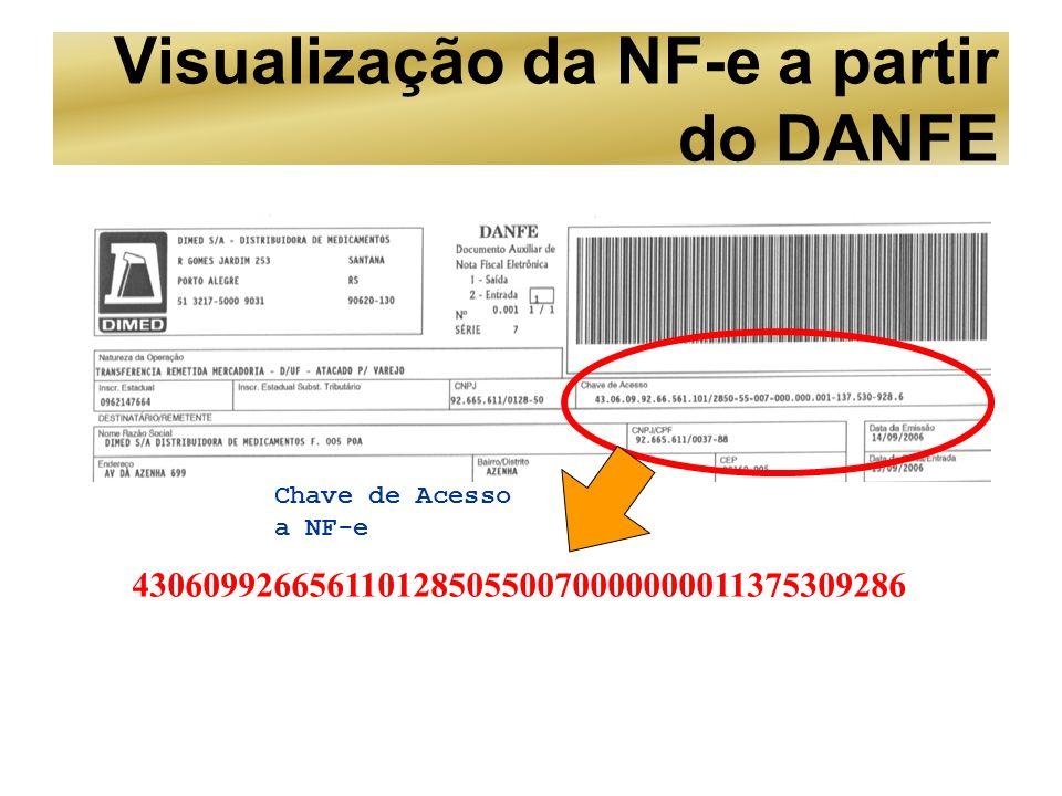 Visualização da NF-e a partir do DANFE