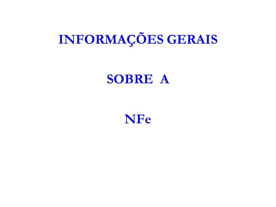 INFORMAÇÕES GERAIS SOBRE A NFe