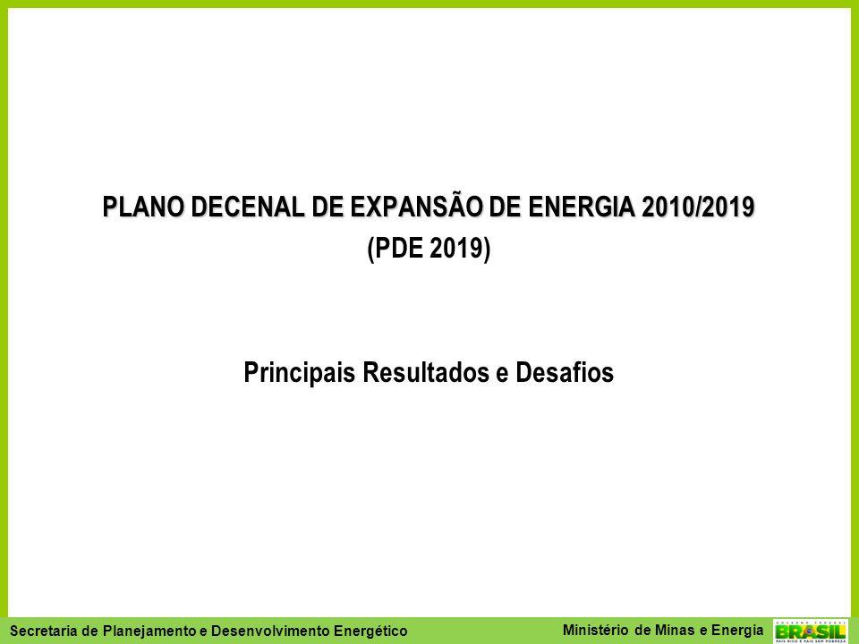 PLANO DECENAL DE EXPANSÃO DE ENERGIA 2010/2019 (PDE 2019)