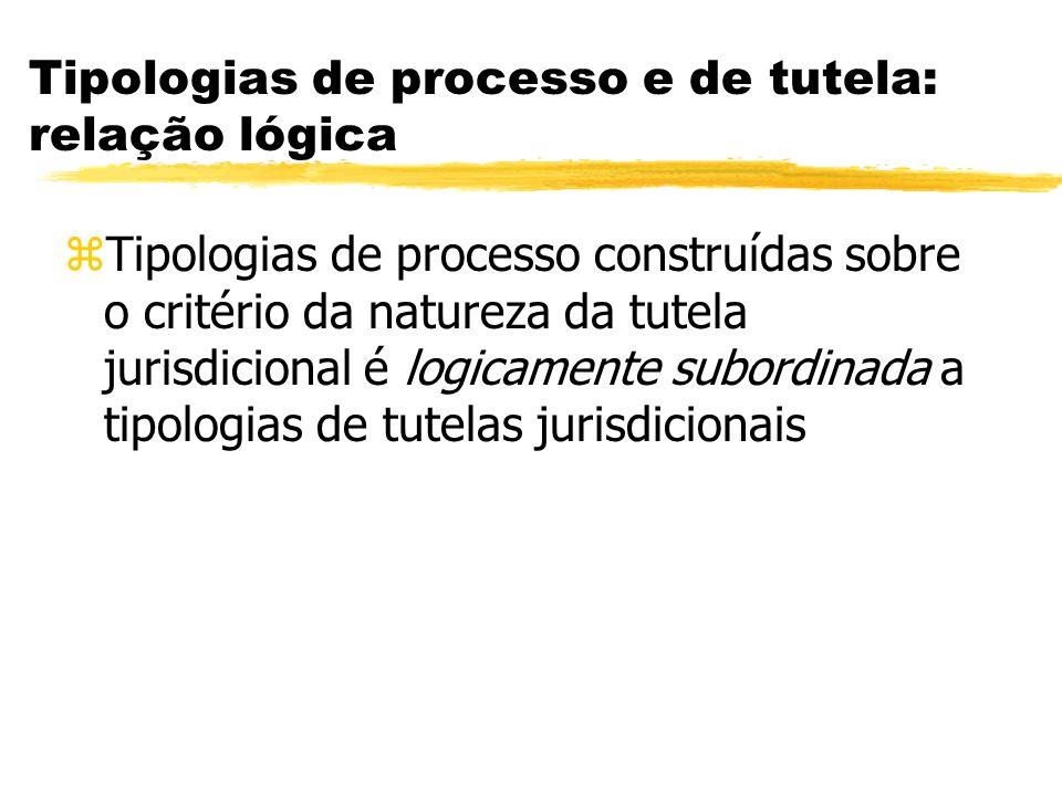 Tipologias de processo e de tutela: relação lógica