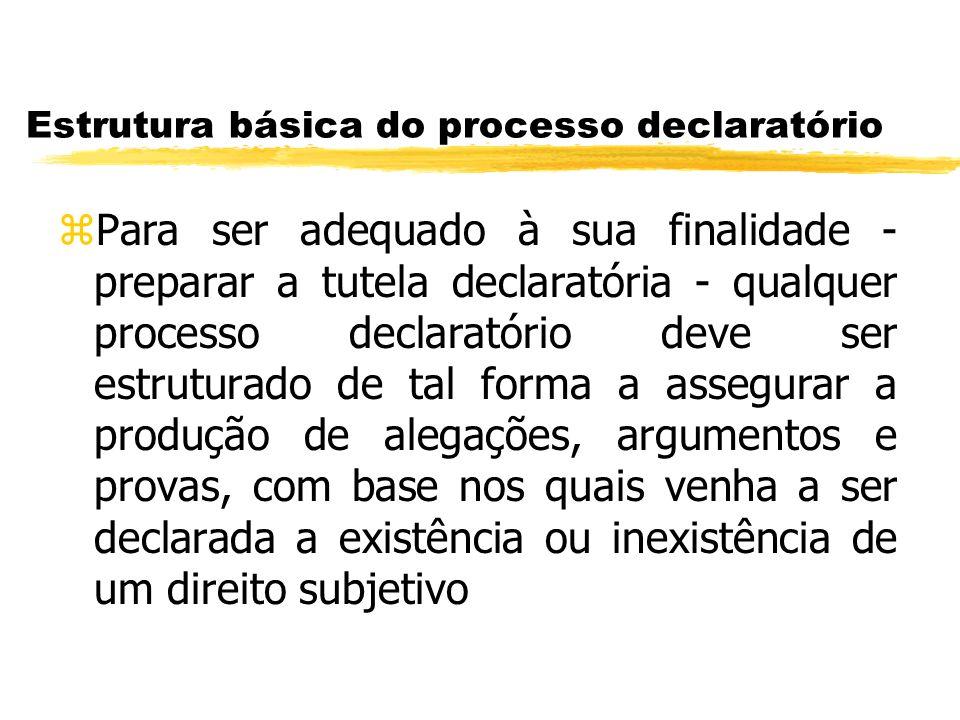 Estrutura básica do processo declaratório