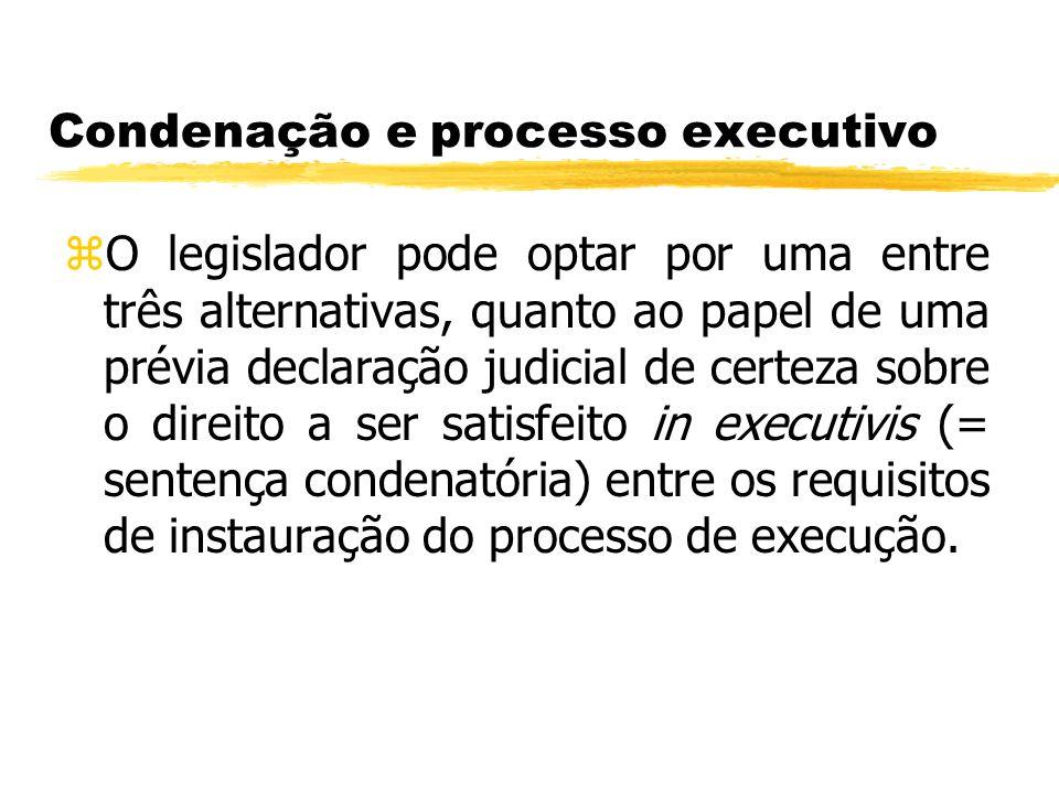 Condenação e processo executivo