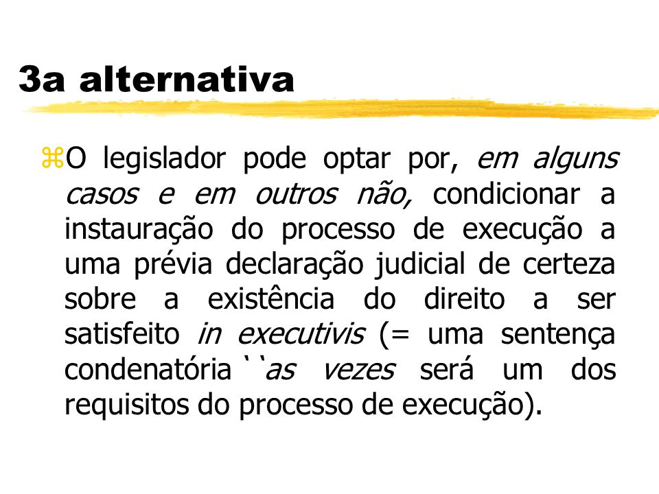 3a alternativa