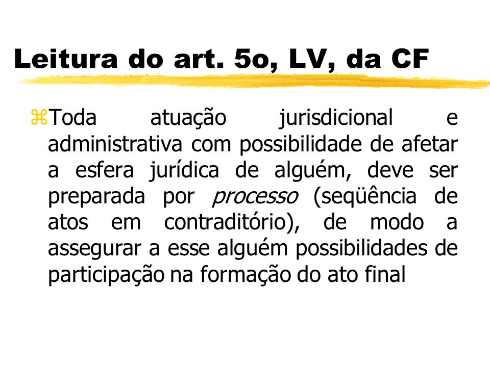 Leitura do art. 5o, LV, da CF