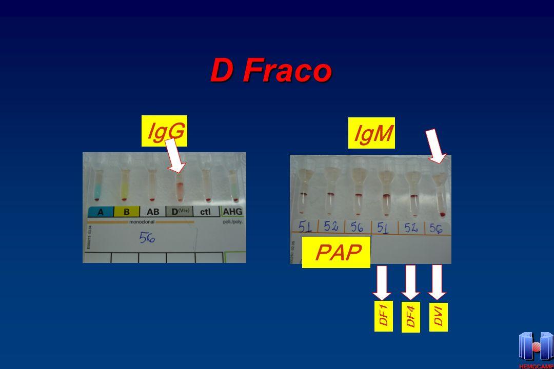 D Fraco IgG IgM PAP DF1 DF4 DVI
