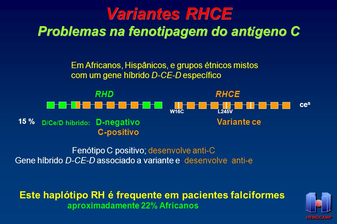 Variantes RHCE Problemas na fenotipagem do antígeno C