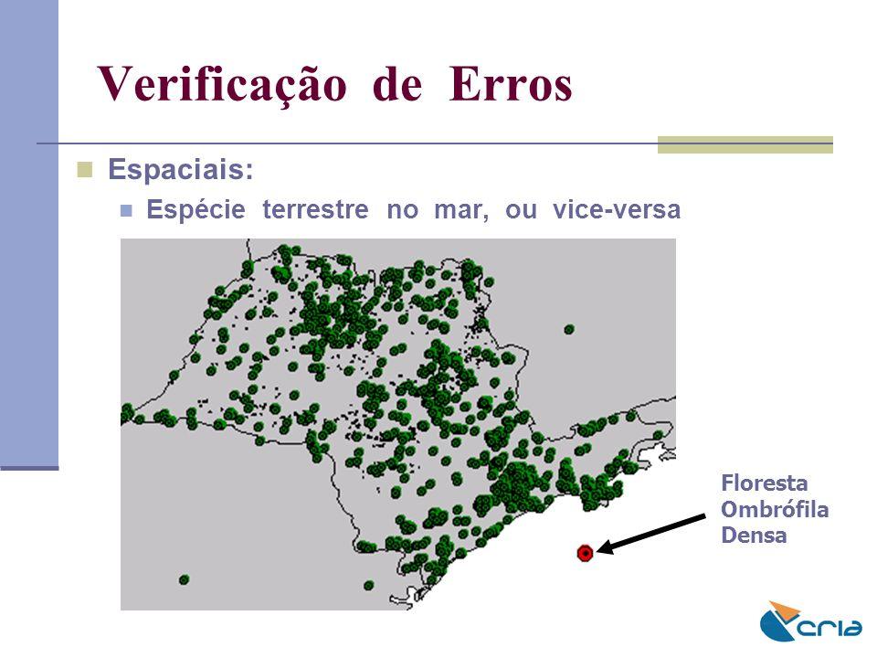 Verificação de Erros Espaciais: