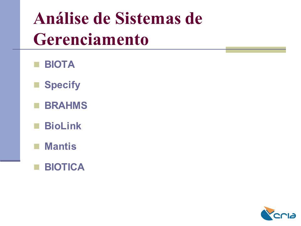 Análise de Sistemas de Gerenciamento